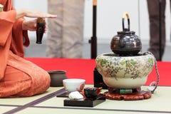 Herbaciana ceremonia Japonia zdjęcia royalty free