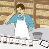 Herbaciana degustacja Zdjęcia Royalty Free