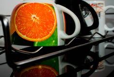Herbaciana filiżanka biała, gorący, zielony, teapot, woda, ciecz, Fotografia Stock