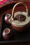 Herbaciana filiżanka z teapot Fotografia Royalty Free