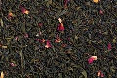 Herbaciana mieszanka bergamota, różani płatki, cytrusów aromaty obrazy stock