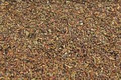 Herbaciana ziele tekstura zielona herbata Organicznie wysuszeni zielona herbata liście Zdjęcia Royalty Free