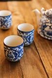 herbaciane chińskie filiżanki zdjęcia royalty free