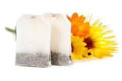 Herbaciane torby z calendula Fotografia Royalty Free