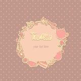 Herbacianego przyjęcia Elegancki tło z herbacianym przyjęciem Zdjęcia Stock