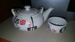 Herbacianego przyjęcia teapod japończyka charakter Obraz Royalty Free