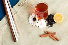 Herbacianej filiżanki acessories ustawiający Obraz Royalty Free