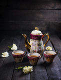 Herbacianej filiżanki set Zdjęcie Royalty Free
