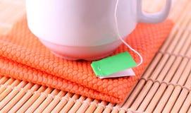 Herbacianej torby etykietka Zdjęcie Stock