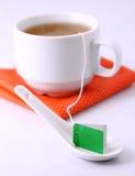 Herbacianej torby etykietka Zdjęcia Stock