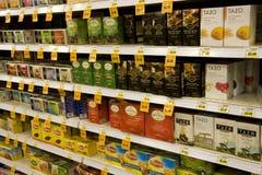 Herbacianej torby ziele supermarket Zdjęcie Stock