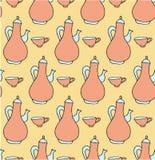 Herbaciani bezszwowi deseniowi pastelowi kolory Zdjęcie Stock