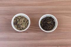 Herbaciani liście przygotowywają dla kucharstwa Obrazy Stock