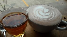 herbaciani projektów kawowi elementy zdjęcie stock