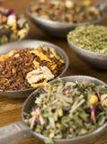 herbaciani teaspoons Fotografia Royalty Free