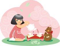 herbaciany czas ilustracja wektor