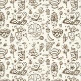 Herbaciany czasu wzór Obrazy Royalty Free
