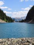 Herbaciany dom Przegląda wycieczkować wokoło Jeziornego Agnes blisko do Lakeview śladu, równina sześć lodowów, Jeziorny Agnes, Lu Obrazy Stock