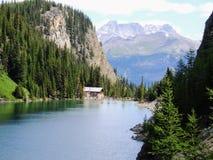 Herbaciany dom Przegląda wycieczkować wokoło Jeziornego Agnes blisko do Lakeview śladu, równina sześć lodowów, Jeziorny Agnes, Lu Zdjęcia Stock