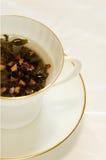 herbaciany filiżanka biel Obraz Royalty Free