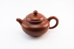 Herbaciany garnek z herbacianymi narzędziami Obraz Royalty Free