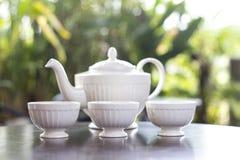 Herbaciany garnek z herbatą i filiżanką wyśmienicie Zdjęcie Royalty Free