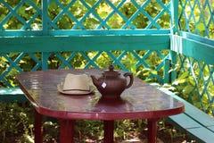 Herbaciany przyjęcie w gazebo Fotografia Stock