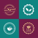 Herbaciany ustawiający logowie w różnych kolorach royalty ilustracja