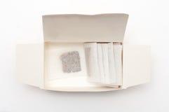 Herbacianych toreb pudełko Zdjęcie Royalty Free