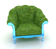 Herbal armchair on a white background Royalty Free Stock Photo