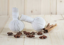 Herbal Ball Spa and wellness Royalty Free Stock Image