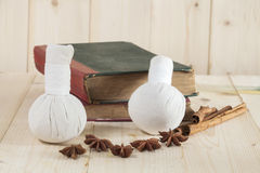 Herbal Ball Spa and wellness Royalty Free Stock Photo
