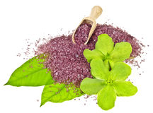 Herbal bath salt Stock Photography