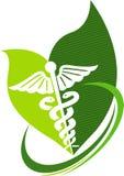 Herbal caduceus Stock Images