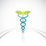 Herbal caduceus Stock Photo