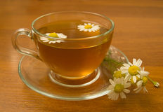 Herbal camomile tea Stock Photo
