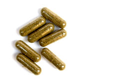 Herbal capsule Royalty Free Stock Photo