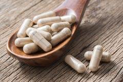 Herbal capsule Stock Photo