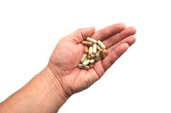 Herbal capsules Royalty Free Stock Images