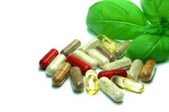 Herbal capsules Royalty Free Stock Image
