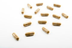 Herbal capsules Stock Photography