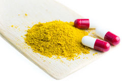 Herbal with capsules Stock Images