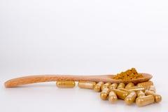 Herbal capsules Stock Images