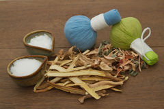 Herbal compress ball for spa aroma Royalty Free Stock Images
