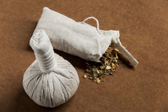 Herbal compress ball Stock Images