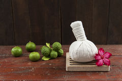 Herbal compress ball Royalty Free Stock Photo