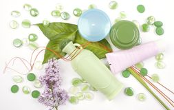 Herbal cosmetics Royalty Free Stock Image