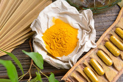 Herbal curcumin Royalty Free Stock Photo