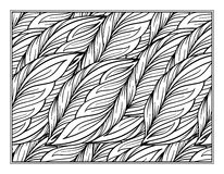 Herbal decorative ornamental coloring page. For art therapy Stock Photography