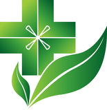 Herbal doctor logo Royalty Free Stock Images